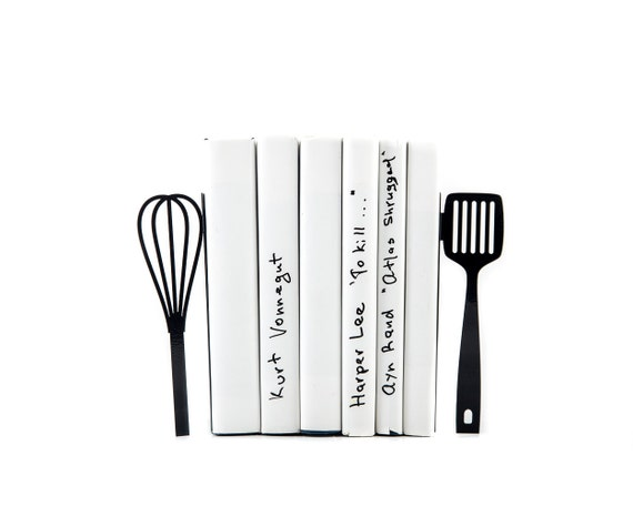 Genial Metal Kitchen Bookends // Spatula And Whisk // Functional Modern Kitchen  Decor // Housewarming Gift // Floating Shelf Decor// FREE SHIPPING ::  Uncoverly