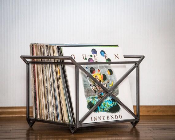 Lp Storage Album Crate Record Box Container Holds