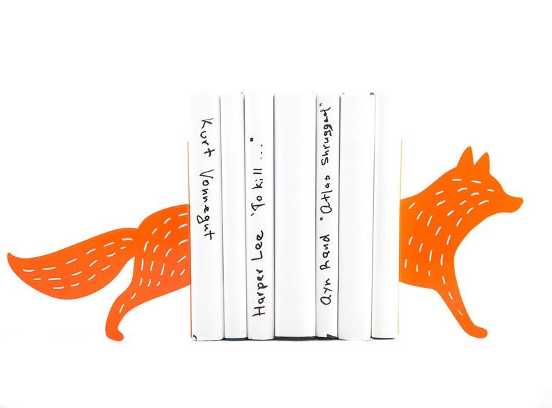 Metal Bookends Reading Fox Woodland theme decor image 0
