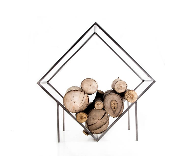 Log Holder // Minimalist Firewood Storage Box Container for image 0