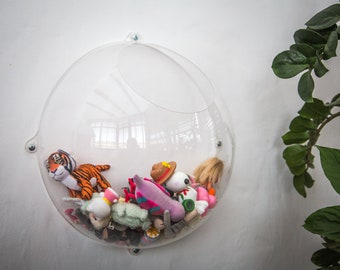 Hanging Storage Display - Acrylic Wall Organizer - smart and stylish solution for nursery