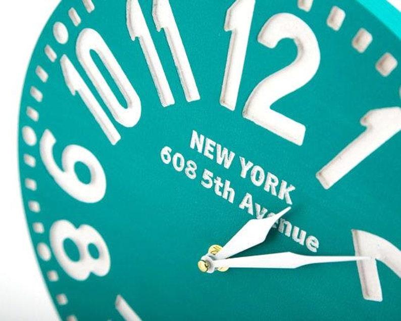Horloge paroi Vintage - New York - céladon des noms personnalisés répondent LIVRAISON GRATUITE