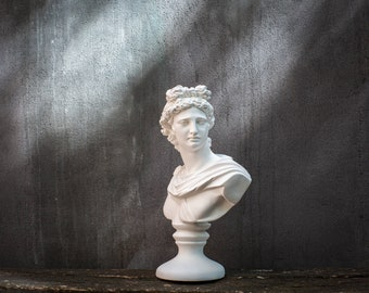 Greek Male Sculpture // Apollo Male Bust // Free Shipping