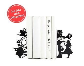 Bookends Alice in Wonderland // 3-5 day USA delivery