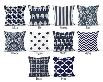 Blue Pillow Cover Etsy