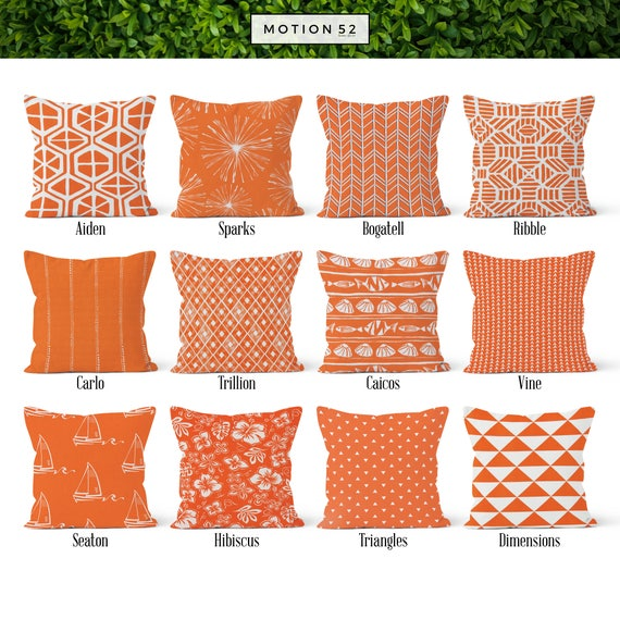 Orange Pillow Cover Decorative Throw Pillow Covers Euro Etsy Classy Decorative Euro Pillow Shams