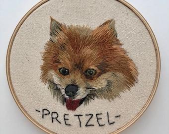 Custom Pet Portrait Embroidery, Pet Memorial, Custom Pet Embroidery, Embroidered Pet Portrait, Pet Portrait Embroidery, Dog Portrait
