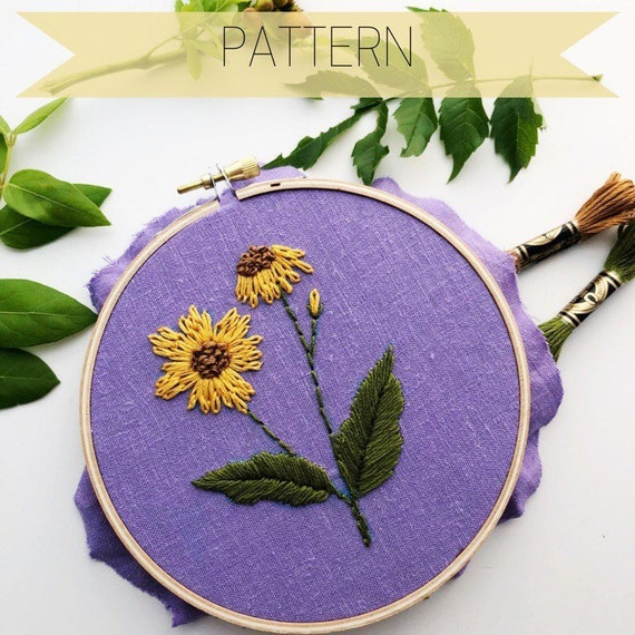 Hand Embroidery Patterns Floral Floral Hand Embroidery Etsy