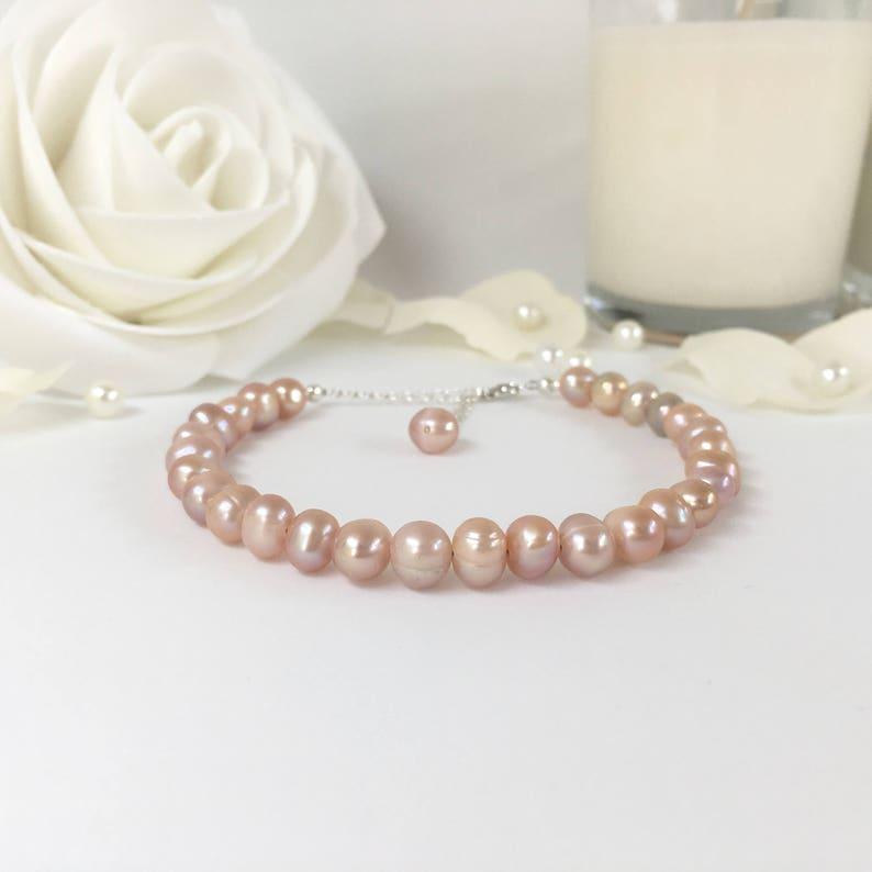 Other Wedding Jewelry Jewelry & Watches Responsible Pearl Bracelet 925 Sterling Wedding Bridesmaid Pretty Bridal Bracelet