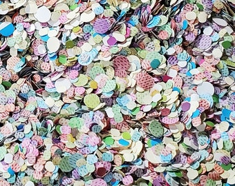 Bulk Paper Confetti: Colorful Round Confetti for Birthdays, Weddings, Parties, Gifts, Pinatas, Balloons, or Crafting (3 ounces / 2 cups)