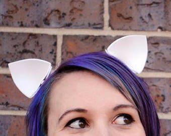 White Costume Ears: My Little Pony Rarity Ears, Clip In Ear, White Cat Costume, Nekomimi Ears, Princess Celestia Halloween Costume