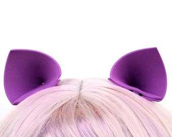 Clip On Ears: My Little Pony Twilight Sparkle or Princess Luna Ears, Purple Cat Ears, Nekomimi Costume Ears, Violet Cosplay Hair Clips