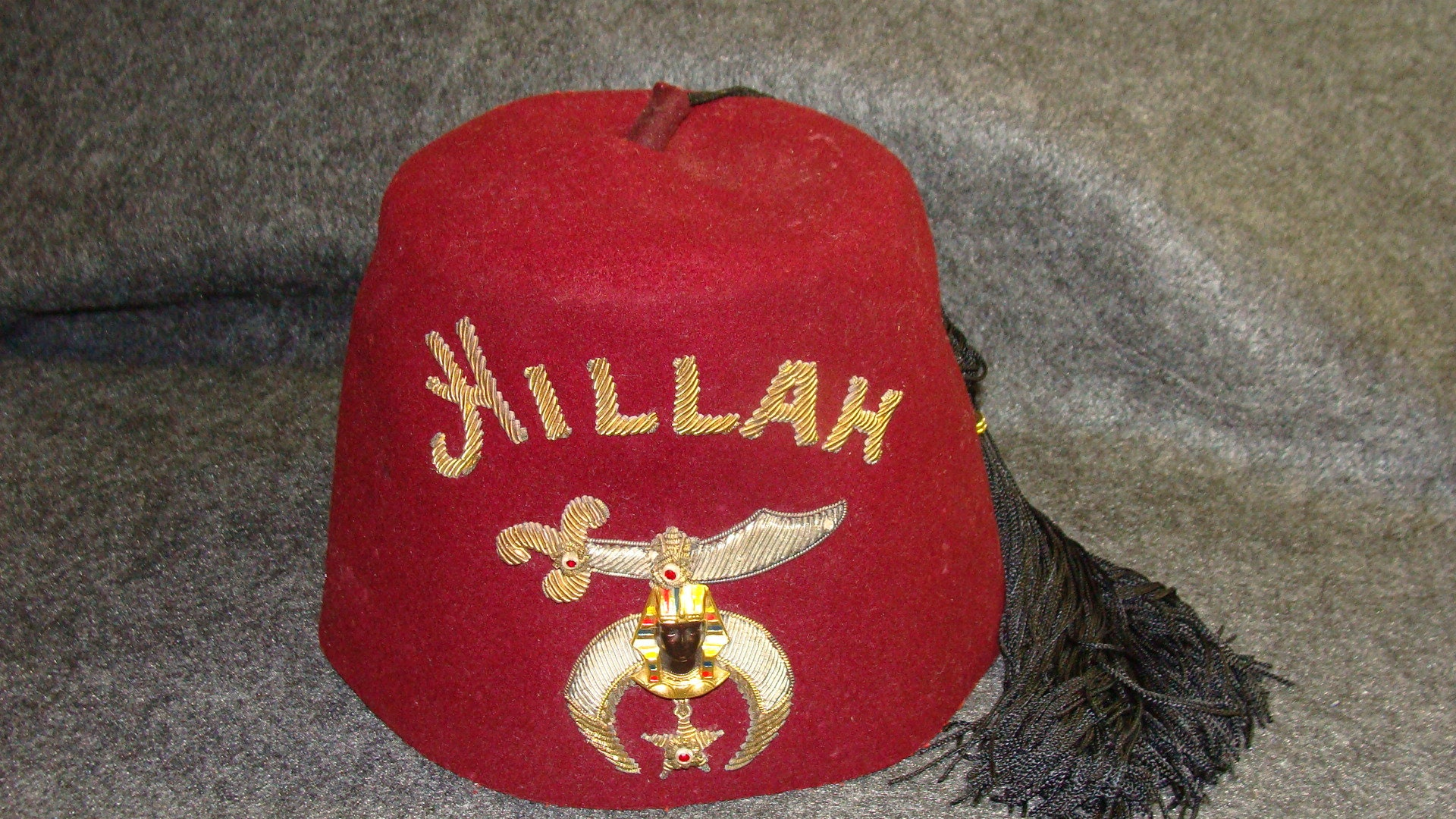 Hillah masonic shriners fez made lou walt etsy jpg 1920x1080 Shriners hat 8339a1510f99
