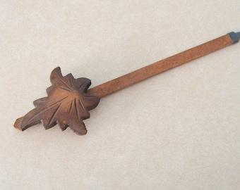 """Older Wooden Cuckoo Clock Pendulum, 8.75"""" Drop"""