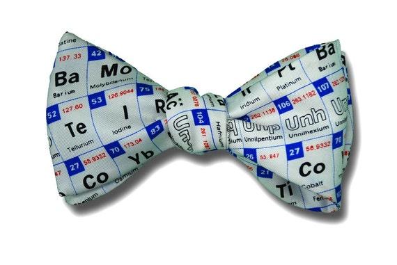 Mens silk bow tie periodic table chemist scientist engineer urtaz Choice Image