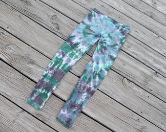 Green Blue Brown Tie Dye Leggings One Size Fits Most
