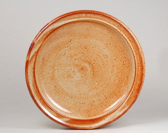 Serving plate glazed in shino