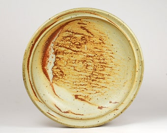 Matte glazed serving plate