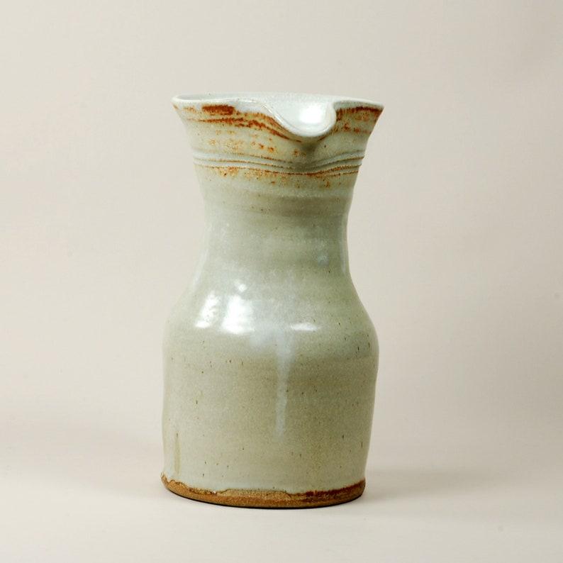 Classic Pitcher in White Glazed Stoneware