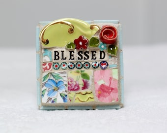 BLESSED, mosaic art, mosaic