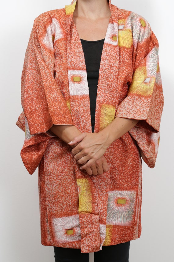 Authentic traditional vintage Japanese meisen silk