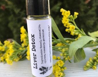 Liver Detox Essential Oil Rollerball Blend 10 Ml Organic