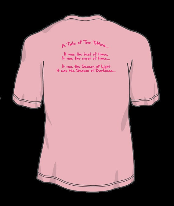A Tale Of Two Titties Breast Cancer Support T Shirt