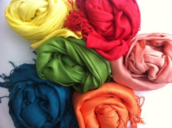 Wedding Favors Bridesmaid gift. Pashmina Shawl Bridesmaid shawl 5 BURGUNDY PASHMINA SHAWL.You can choose Any Color !!!! Bridal Shawl