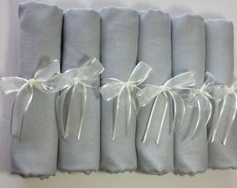 6 SET SILVER GRAY ( light gray) Pashminas Shawl. 6 light gray Shawl. Bridesmaid gifts. Bridesmaid shawls. Pashmina Scarf. Wedding favor.