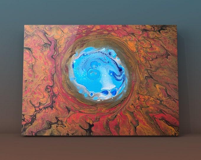 "Portal Swirl #1- Original Acrylic Painting on Canvas- 12"" x 16"""