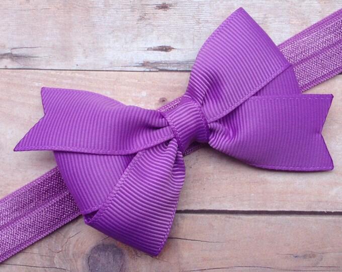 Baby headband - baby headband bows, baby girl headbands, newborn headbands, baby bows, hair bows