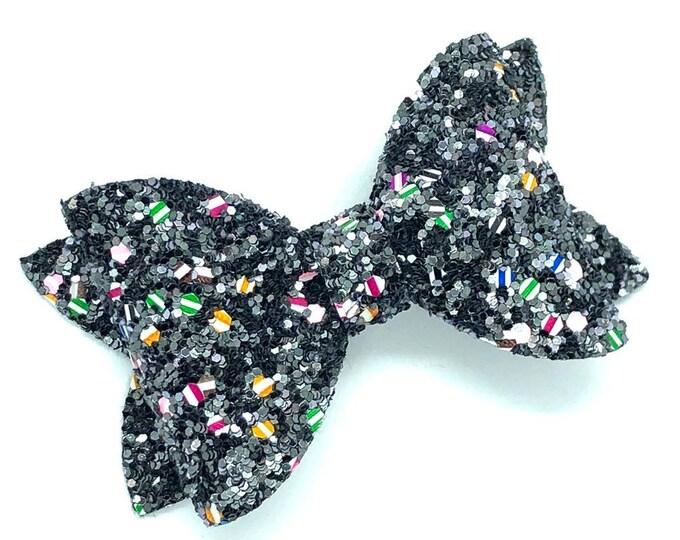 Glitter hair bow - glitter bow, hair bows, baby bows, girls hair bows, hair clips, toddler bows