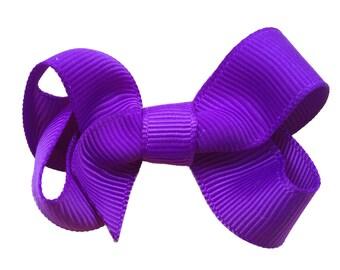Purple hair bow - hair bows, hair bow, bows, baby bows, hair bows for girls, pigtail bows, girls bows, toddler bows, boutique bows, hairbows