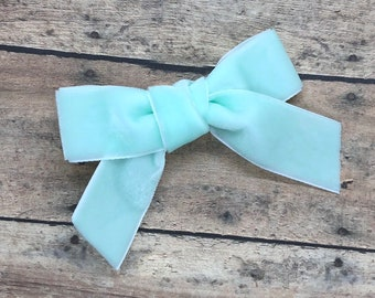 Velvet hair bow - hair bows, hair clips, bows for girls, baby bows, baby hair bows, baby headband, nylon headband