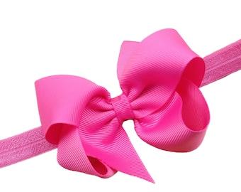 YOU PICK color baby headband - bow headbands, baby headbands, baby headband bows, baby girl headbands, newborn headbands, baby bows, bows