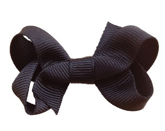 Baby hair bow - hair bows, girls bows, baby bows, toddler hair bows, small bows, black bows, hair clips