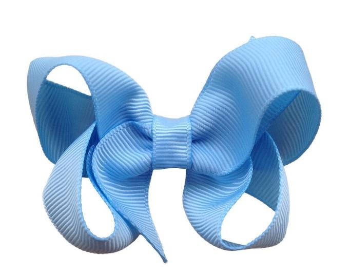 Light blue hair bow - hair bows, baby bows, hair bows for girls, girls hair bows, pigtail bows, toddler hair bows, bows, hairbows, baby girl