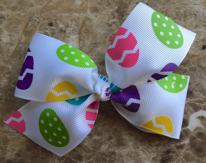 Easter hair bow - hair bows, bows for girls, toddler bows, baby bows, 4 inch hair bows