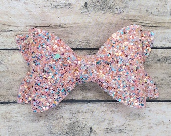 Glitter hair bow - glitter bow, hair bows, baby bows, girls hair bows, toddler bows, hair clips, baby headband