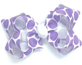 Purple hair bow - hair bows, baby bows, girls hair bows, toddler hair bow, 3 inch hair bows