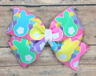 Easter hair bow - hair bows for girls, toddler hair bows, baby bows, girls bows, 4 inch hair bows, big bows
