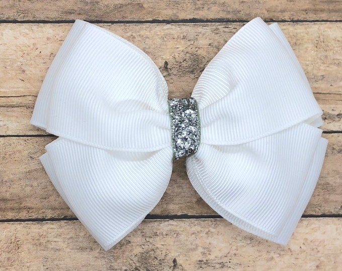 YOU PICK color stacked hair bow - hair bows, girls hair bows, toddler hair bows, baby hair bows, girls bows, baby bows, big hair bows