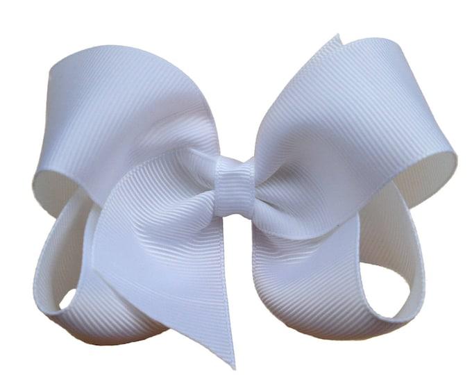 YOU PICK hair bows - girls hair bows, baby bows, toddler hair bows, hair bows for girls, 4 inch hair bows