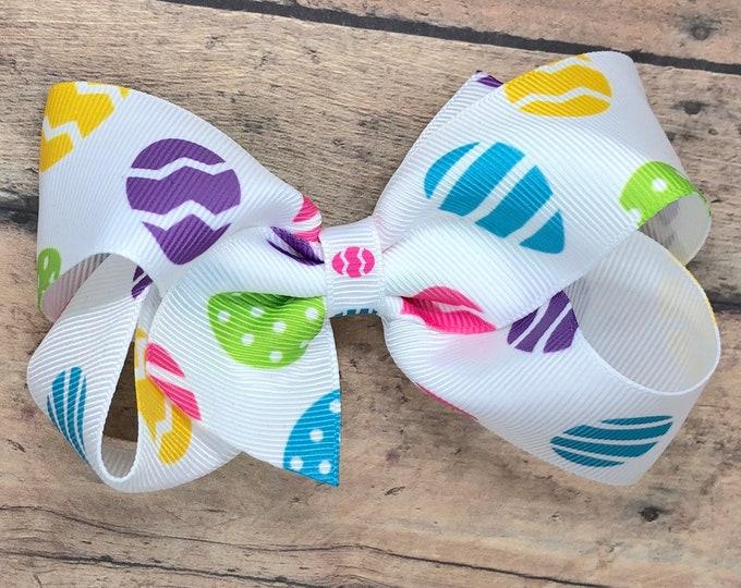 Easter hair bow - hair bows, bows for girls, toddler bows, baby bows, 4 inch hair bows