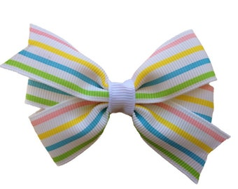 Pastel hair bow - hair bows, girls bows, toddler bows, baby hair bows, girls hair bows, pigtail bows, baby bows