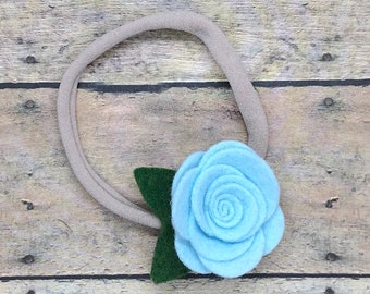 Baby headband - nylon headband, flower headbands, baby girl headband, newborn headband, baby bows, baby bow headband