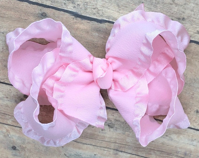 Light pink hair bow - hair bows for girls, baby bows, toddler hair bows, girls hair bows