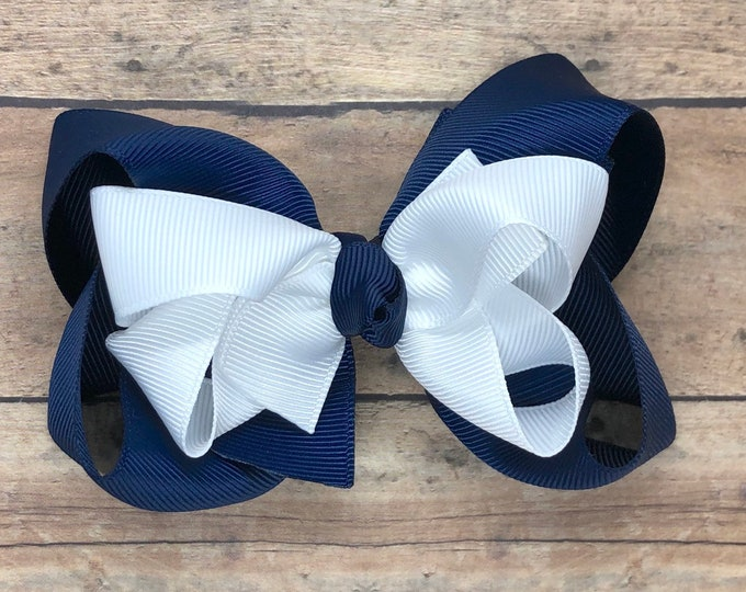 YOU PICK boutique hair bow - hair bows, girls bows, big hair bows, toddler hair bows, stacked bows