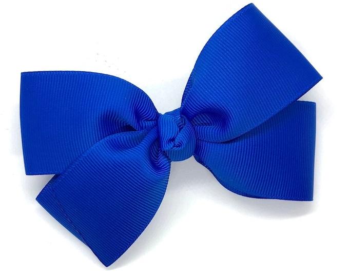 YOU PICK color hair bow - hair bows, 4 inch hair bows, hair clips, hair bows for girls, baby bows, girls hair bows, hairbows, toddler bows