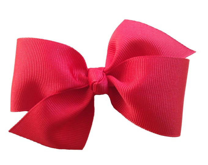 Hair bows - YOU PICK color - girls hair bows, baby bows, toddler hair bows, 4 inch hair bows, pigtail bows